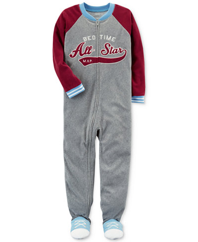 Carter's 1-Pc. Bedtime All-Star Footed Pajamas, Little Boys & Big Boys