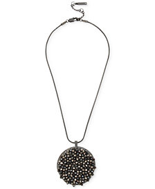 Kenneth Cole New York Crystal Cluster Disc Pendant Necklace