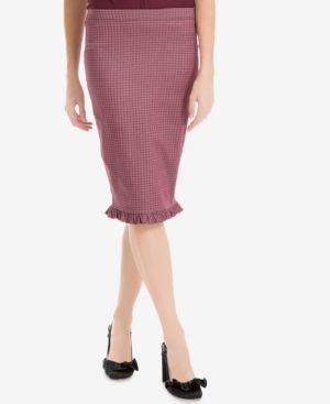 Max Studio London Ruffled-Hem Pencil Skirt, Created for Macy's thumbnail