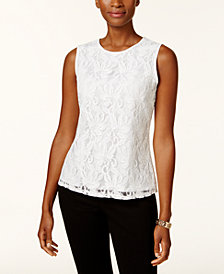 Kasper Lace Shell