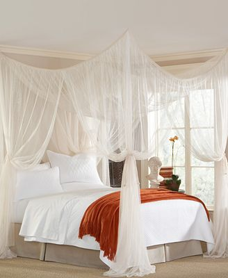 White Bed Canopy mombasa bedding, majesty canopy - bedding collections - bed & bath