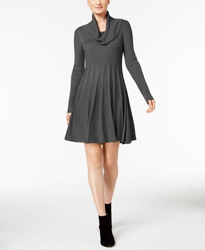 Calvin Klein - Cowl-Neck Sweater Dress