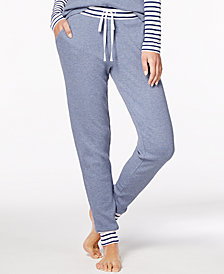 Alfani Striped-Trim Thermal Pajama Pants, Created for Macy's