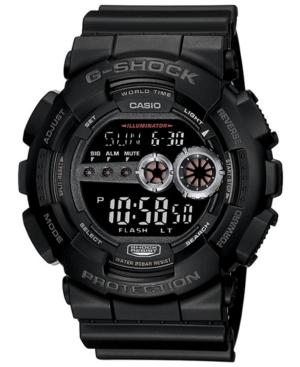 Men's Xl Digital Black Resin Strap Watch GD100-1B