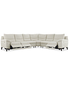 Stefana 6-Pc. Sectional Sofa with 3 Power Recliners, Created for Macy's