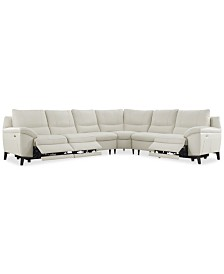 CLOSEOUT! Stefana 6-Pc. Sectional Sofa with 3 Power Recliners, Created for Macy's