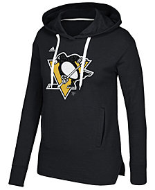 adidas Women's Pittsburgh Penguins Logo Shine Hooded Sweatshirt