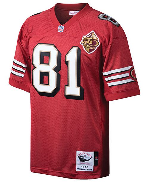 Mitchell   Ness Men s Terrell Owens San Francisco 49ers Authentic Football  Jersey ... edba89acd