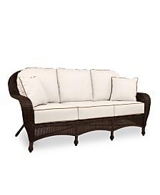Monterey Wicker Outdoor Sofa: with Custom Sunbrella®,  Created for Macy's