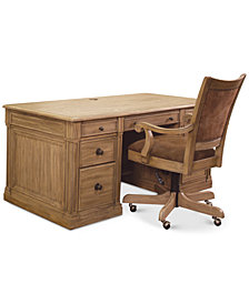 CLOSEOUT! Sherborne Home Office Furniture, 2-Pc. Set (Executive Desk & Chair)