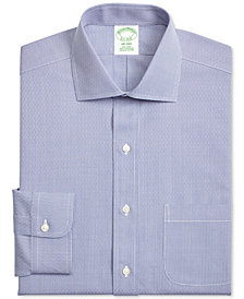 Brooks Brothers Men's Extra-Slim Fit Non-Iron Navy Dobby Dress Shirt