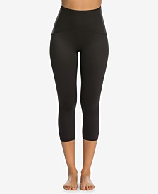 SPANX Women's Active Tummy Shaping Cropped Compression Leggings