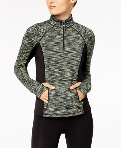 Calvin Klein Performance Space-Dyed Quarter-Zip Top