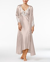 d8cda3db33 Flora by Flora Nikrooz Stella Satin Venise Trim Gown and Robe Separates