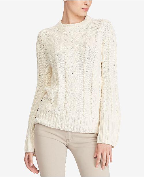 731653d88 Polo Ralph Lauren Aran-Knit Dolman Sweater   Reviews - Sweaters ...