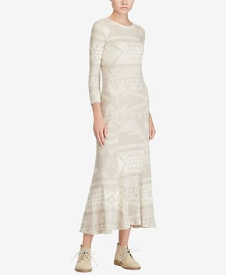 Polo Ralph Lauren Fair Isle Maxidress - Dresses - Women - Macy's