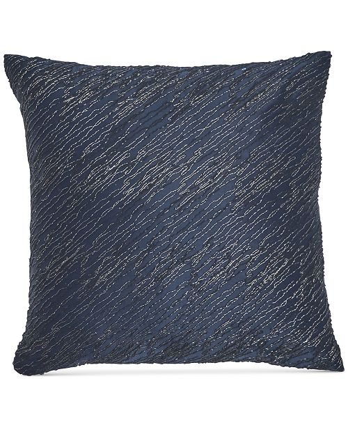 """Donna Karan  Home  Ocean Twisted Embroidery 16"""" x 16"""" Decorative Pillow"""