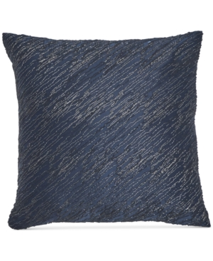 """Image of Donna Karan Home Ocean Twisted Embroidery 16"""" x 16"""" Decorative Pillow Bedding"""