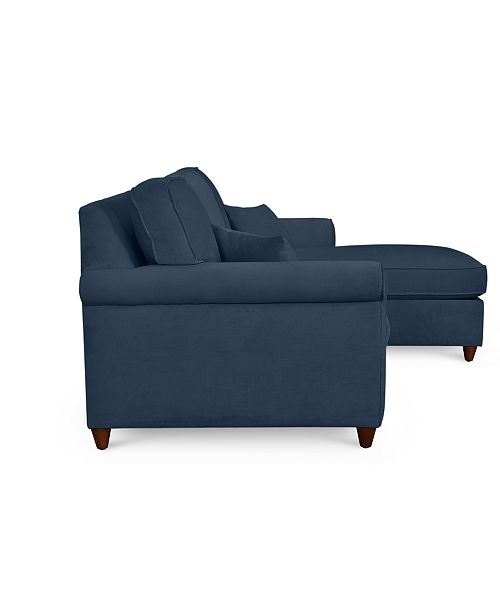 Sensational Lidia 82 Fabric 2 Pc Reversible Chaise Sectional Sofa With Storage Ottoman Custom Colors Created For Macys Squirreltailoven Fun Painted Chair Ideas Images Squirreltailovenorg