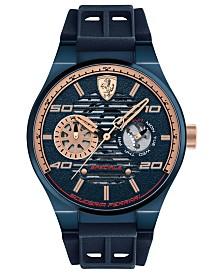LIMITED EDITION Ferrari Men's Speciale Multi Blue Silicone Strap Watch 44mm