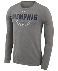 Nike Men's Memphis Grizzlies Dri-FIT Cotton Practice Long Sleeve T-Shirt