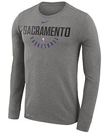 Nike Men's Sacramento Kings Dri-FIT Cotton Practice Long Sleeve T-Shirt