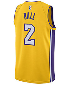 Nike Men's Lonzo Ball Los Angeles Lakers Association Swingman Jersey