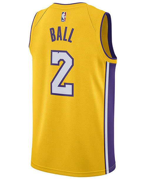 22c4ba4a8 ... Nike Men s Lonzo Ball Los Angeles Lakers Association Swingman Jersey ...