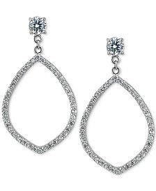 Giani Bernini Cubic Zirconia Pavé Open Drop Earrings, Created for Macy's