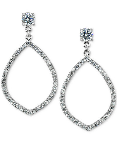 Giani Bernini Cubic Zirconia Pavé Open Drop Earrings, Created for Macy's