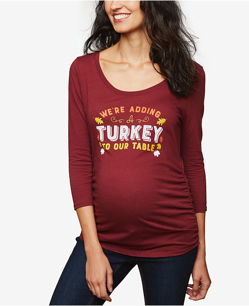 Motherhood Maternity We're Adding Turkey To Our Table™ Maternity Tee