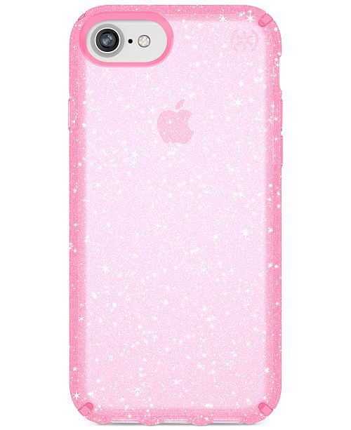 Speck Presidio Clear Glitter iPhone 8 Case