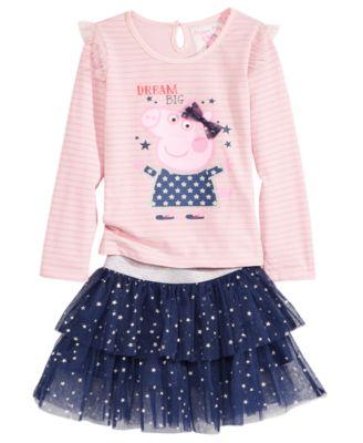 Peppa Pig T Shirt U0026 Scooter Skirt Set, Toddler Girls