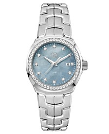 Women's Swiss LINK Diamond (3/4 ct. t.w.) Stainless Steel Bracelet Watch 32mm
