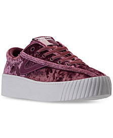 Tretorn Women's Nylite 4 Bold Crushed Velvet Casual Sneakers from Finish Line