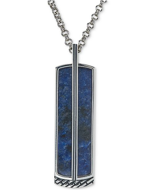listing necklace il sodalite pendant heart blue