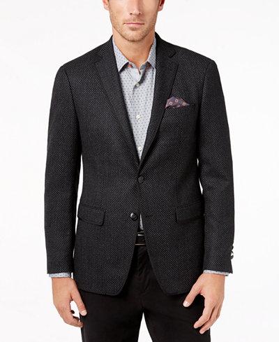 tallia men 39 s slim fit charcoal birdseye big and tall sport coat blazers sport coats men. Black Bedroom Furniture Sets. Home Design Ideas