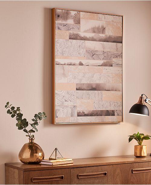 Graham & Brown Rose Quartz Dimension Wall Art - Wall Art - Macy\'s