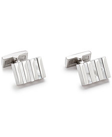 Ryan Seacrest Distinction™ Men's Mother of Pearl Striped Cuff Links, Created for Macy's