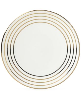 Charles Lane™ Gold-Tone Stripe Accents Plate, Created for Macy's
