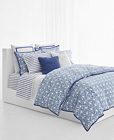 Lauren Ralph Lauren Jensen Cotton Percale 200-Thread Count 3-Pc. King Duvet Cover Set