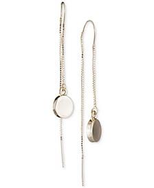 Gold-Tone Disc Threader Earrings, Created for Macy's