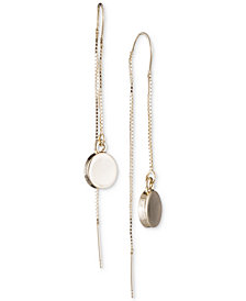 DKNY Gold-Tone Disc Threader Earrings, Created for Macy's