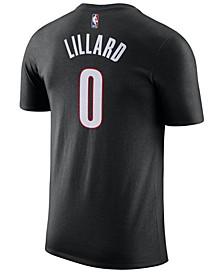 Men's Damian Lillard Portland Trail Blazers Name & Number Player T-Shirt