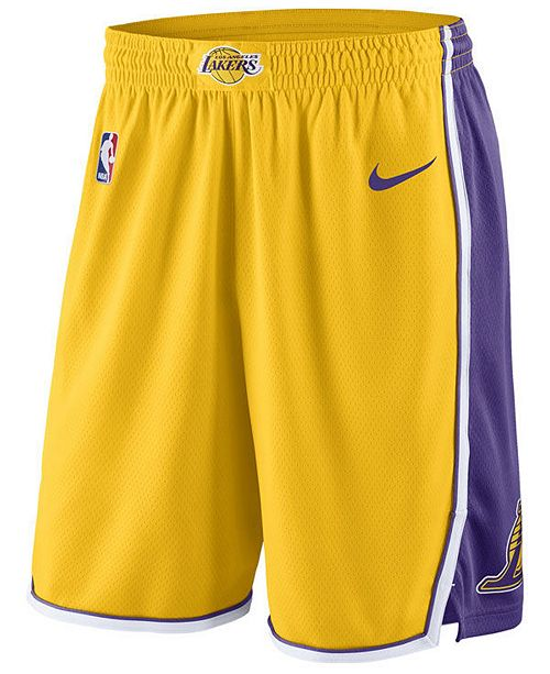 Nike Men s Los Angeles Lakers Icon Swingman Shorts - Sports Fan Shop ... ece83987e434