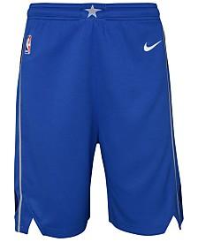 Nike Dallas Mavericks Icon Swingman Shorts, Big Boys (8-20)