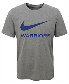 Nike Golden State Warriors Swoosh Team T-Shirt, Big Boys (8-20)