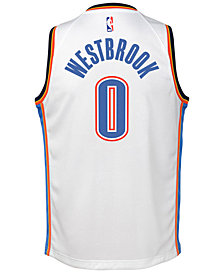 Nike Russell Westbrook Oklahoma City Thunder Association Swingman Jersey, Big Boys (8-20)