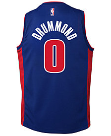 Nike Andre Drummond Detroit Pistons Icon Swingman Jersey, Big Boys (8-20)