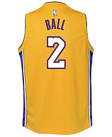 Nike Lonzo Ball Los Angeles Lakers Icon Swingman Jersey, Big Boys (8-20)